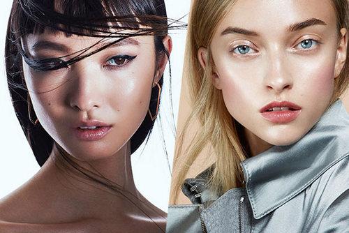 Стробинг в макияже, моделирует лицо