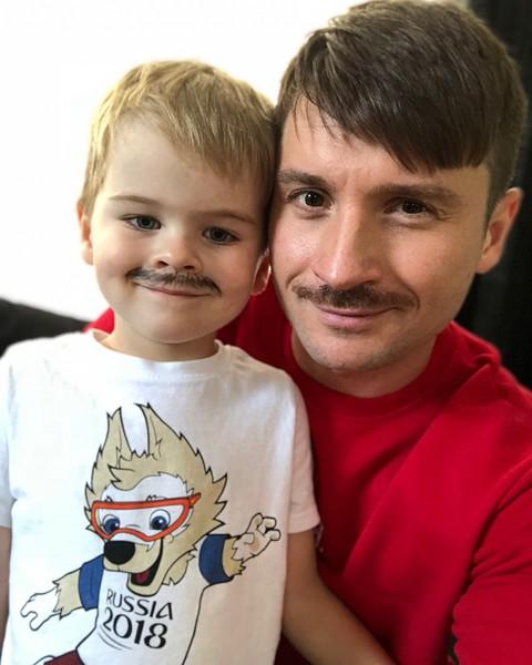Сергей Лазарев, с сыном