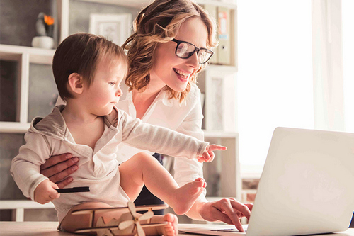 10 правил эффективной работы из дома, Мамам в декрете