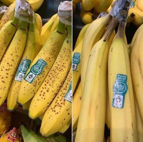 """13. """"Недавно узнал, что если у банана зеленый стебель и коричневые пятна, то он дозрел с помощью химии. Теперь беру только с черными!"""" Лайфхак, жизненно, интересно, полезно, фото, хитрости"""