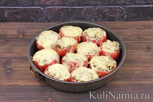 Фаршированные помидоры с фаршем в духовке