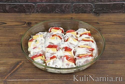 Грудка с помидорами и сыром пошагово