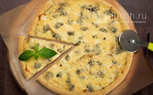 Пицца четыре сыра - пошаговый рецепт с фото