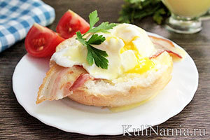 Яйца Бенедикт под соусом голландез рецепт