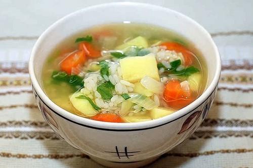 Рисовый суп, рецепт