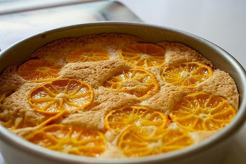 Цитрусовый пирог стаканник